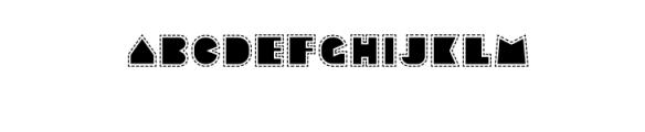 Sebasengan-Stitched.ttf Font UPPERCASE