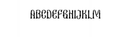 Sekatoan-Inline.ttf Font UPPERCASE