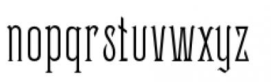 Sentry Font LOWERCASE