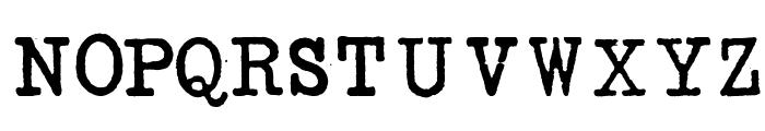 SENTA Schreibmaschine Demo Font UPPERCASE