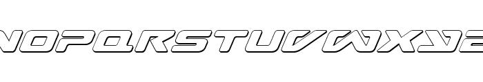 Sea-Dog Outline Italic Font LOWERCASE