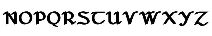 Seanchl? Dubh Font UPPERCASE