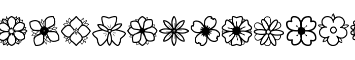 Second Flowers St Font UPPERCASE
