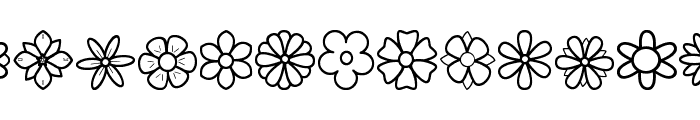 Second Flowers St Font LOWERCASE