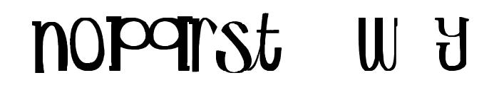 Secret Mole Font LOWERCASE