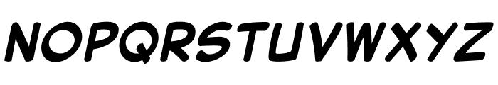 Secret Wurps Bold Italic Font UPPERCASE