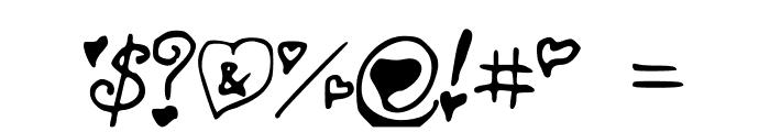 SecretLoveLetters Font OTHER CHARS