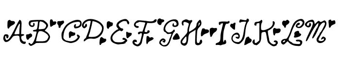 SecretLoveLetters Font UPPERCASE