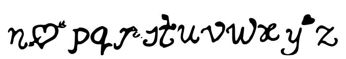 SecretLoveLetters Font LOWERCASE