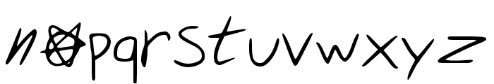 Security Meltdown Regular Font LOWERCASE