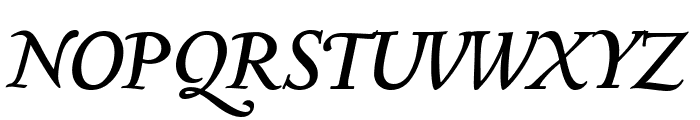Sedan Italic Font UPPERCASE
