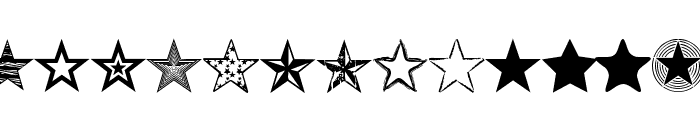 Seeing Stars Font UPPERCASE