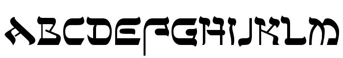 Sefer AH Font UPPERCASE