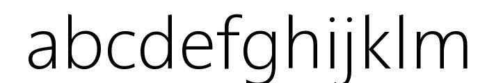 Segan Light Font LOWERCASE