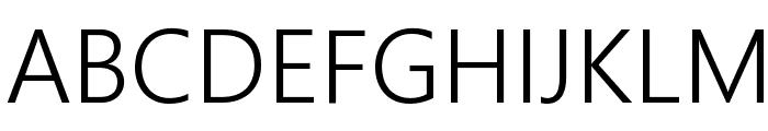Segoe Boot Semilight Font UPPERCASE