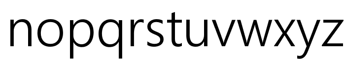 Segoe Boot Semilight Font LOWERCASE