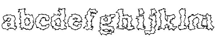 Seismacrap Font LOWERCASE