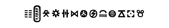Seized X-S Font UPPERCASE
