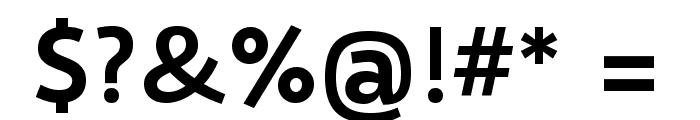 Selawik Semibold Font OTHER CHARS