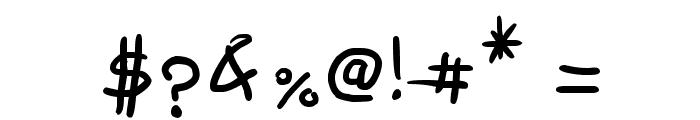 Semi Cursive Gut Font OTHER CHARS