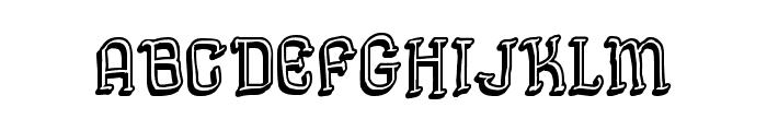 Semi Cursive Gut Font UPPERCASE