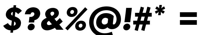 Semplicita-BoldItalic Font OTHER CHARS
