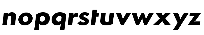 Semplicita-BoldItalic Font LOWERCASE
