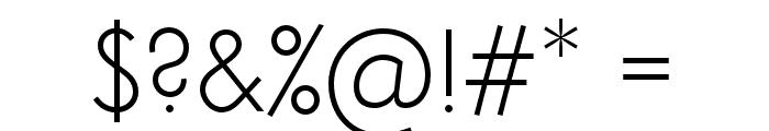 Semplicita-Light Font OTHER CHARS