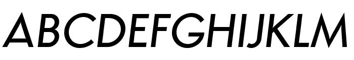 Semplicita-MediumItalic Font UPPERCASE