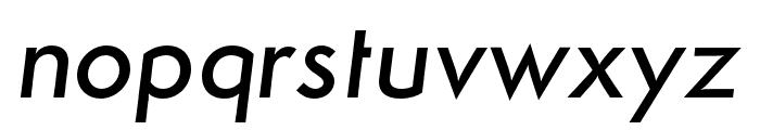 Semplicita-MediumItalic Font LOWERCASE
