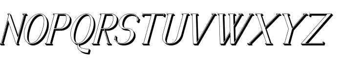 Senandung Malam 3D Bold Italic Font UPPERCASE