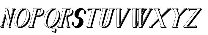 Senandung Malam 3D Bold Italic Font LOWERCASE