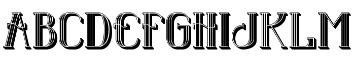 Senandung Malam 3D Regular Font LOWERCASE