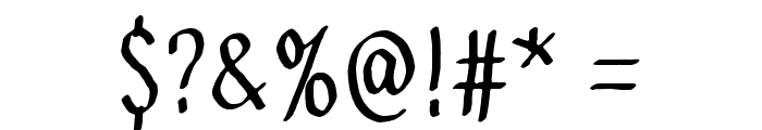 Send me a postcard Font OTHER CHARS