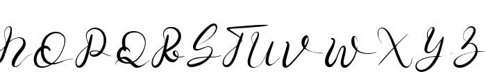 Senoritta Font UPPERCASE