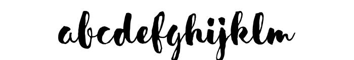 SensaBrush-FillDemo Font LOWERCASE