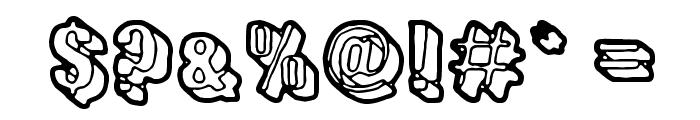 Sensory Cortex Font OTHER CHARS