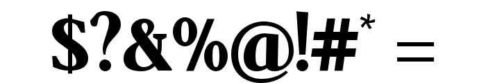 SenzaBella ExtraBold Font OTHER CHARS