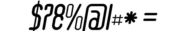 Senzi Bold Italic Font OTHER CHARS
