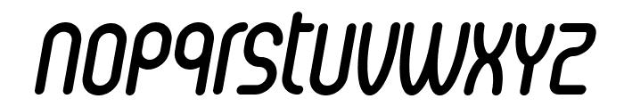 Senzi-BoldItalic Font LOWERCASE