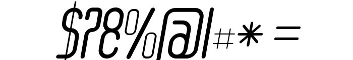 Senzi Italic Font OTHER CHARS