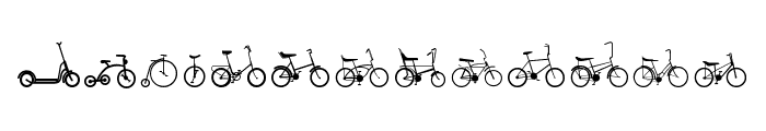 Sepeda Font UPPERCASE