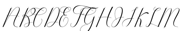 Serendipity Font UPPERCASE