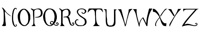 Serenity Font UPPERCASE