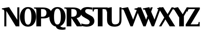 Serif Black Font UPPERCASE