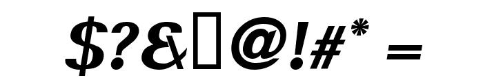 Serif BlackItalic Font OTHER CHARS