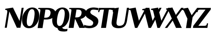 Serif BlackItalic Font UPPERCASE