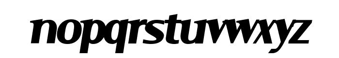 Serif BlackItalic Font LOWERCASE