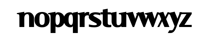 Serif Black Font LOWERCASE