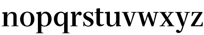 Serif-Bold Font LOWERCASE